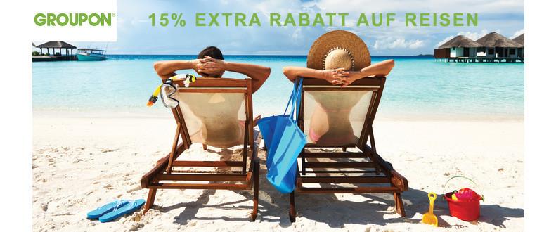 15% Rabatt auf Groupon Reisen