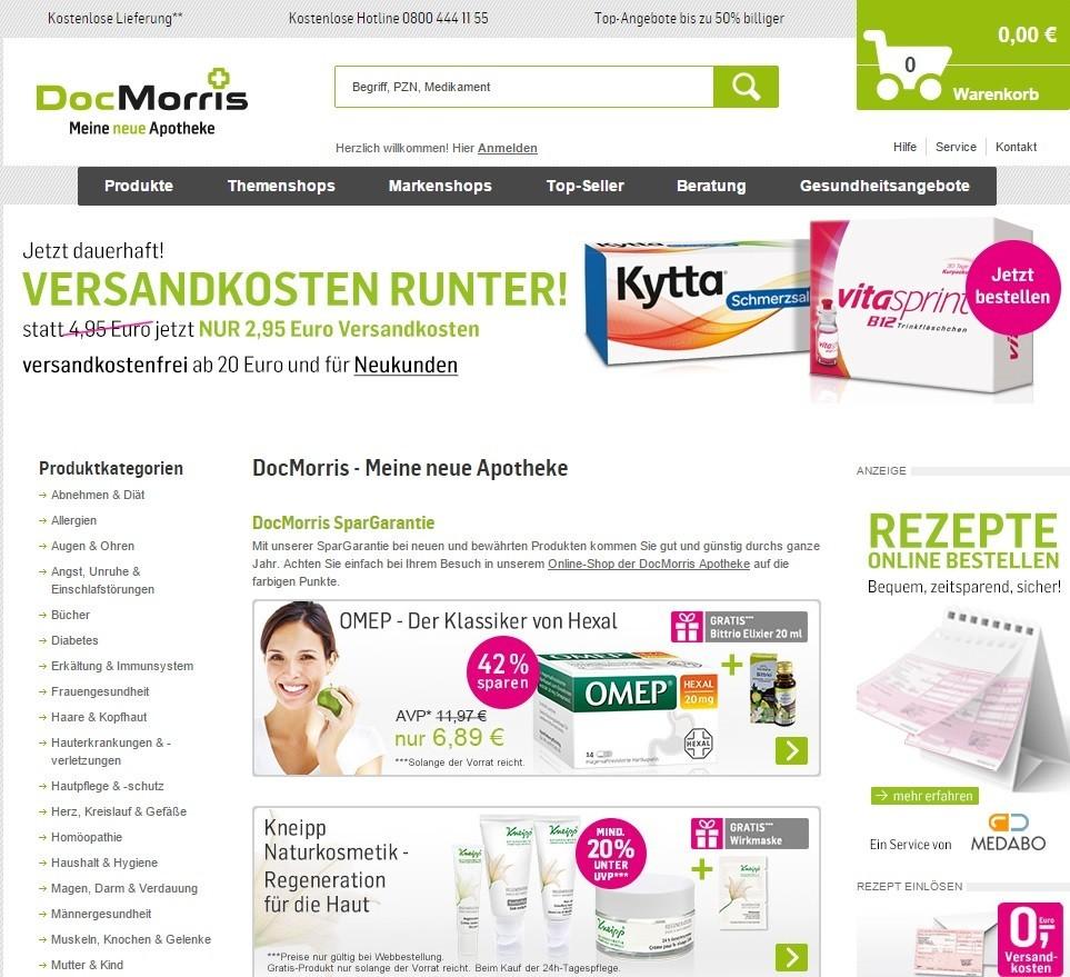 DocMorris Homepage