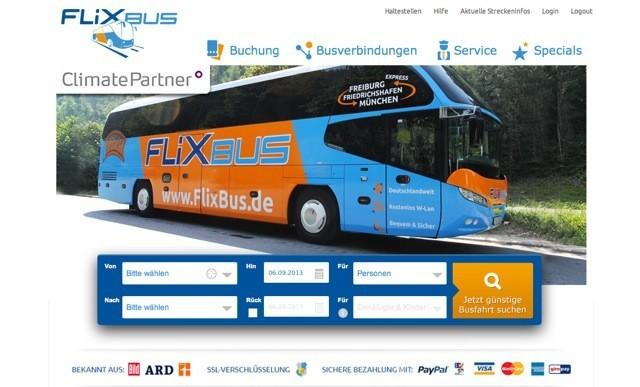 FlixBus Homepage
